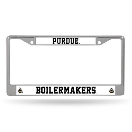 Purdue Boilermakers NCAA Chrome Metal License Plate Frame