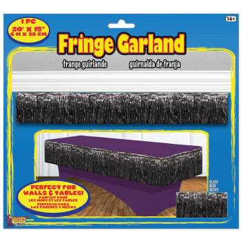 TINSEL FRINGE GARLAND-BLACK](Black Tinsel)