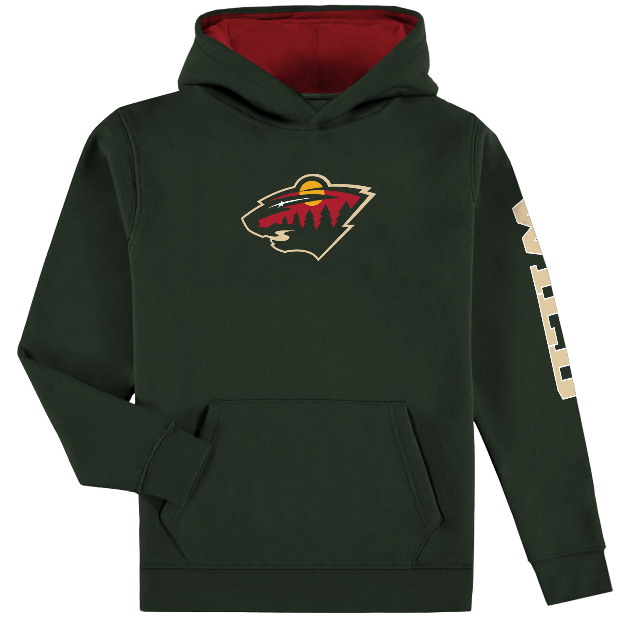 Minnesota Wild Fanatics Branded Youth Pullover Hoodie - Green/Red