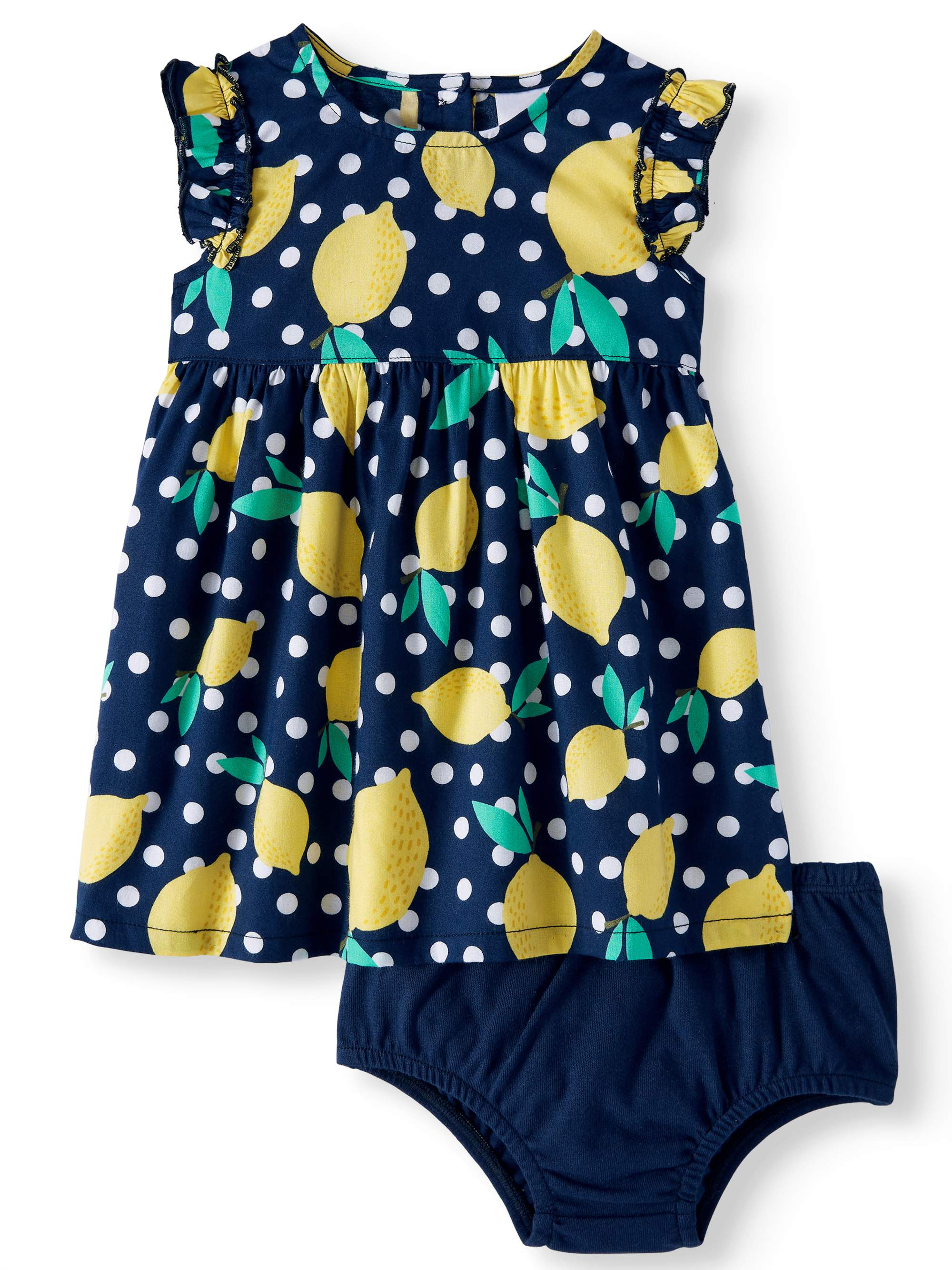 Woven Babydoll Dress & Diaper Cover, 2pc Set (Baby Girls)