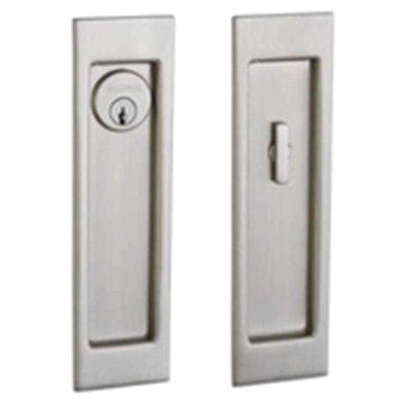 Baldwin PD005150ENTR Large Santa Monica Keyed Entry Sliding Door Lock Satin Nickel Finish (Baldwin Door Locks)