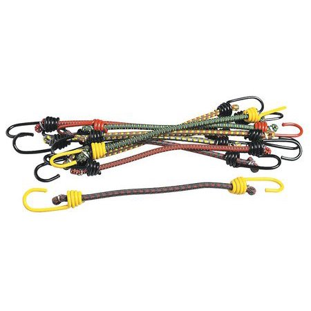 Keeper 06014-10 Hook Bungee Cord, 13 In.L - Pack of 10 (Whale Cord Keeper)