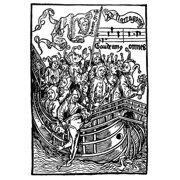 Brant Ship Of Fools Nwoodcut Illustration To Sebastian BrantS Das Narrenschiff (The Ship Of Fools) Published At Basel In 1494 Poster Print by Granger Collection