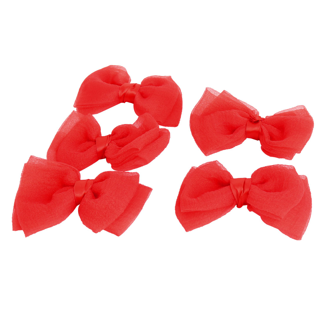 Boutique Bowknot Shaped Wholesale Hairclips Decoration Bows Red 5 PCS