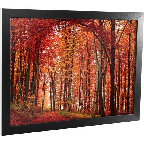 "Trademark Art ""The Red Way"" Framed Canvas Art, 18x24"
