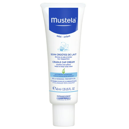 Mustela Baby Cradle Cap Cream, Fragrance-Free, with Natural Avocado Perseose, 1.35 (Best Natural Baby Cream)