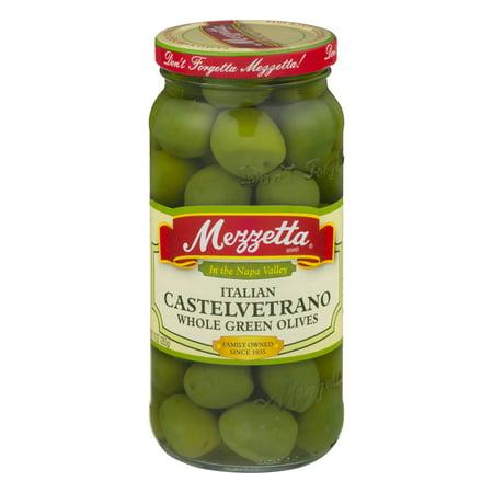 (2 Pack) Mezzetta Italian Castelvetrano Whole Green Olives, 10.0 OZ