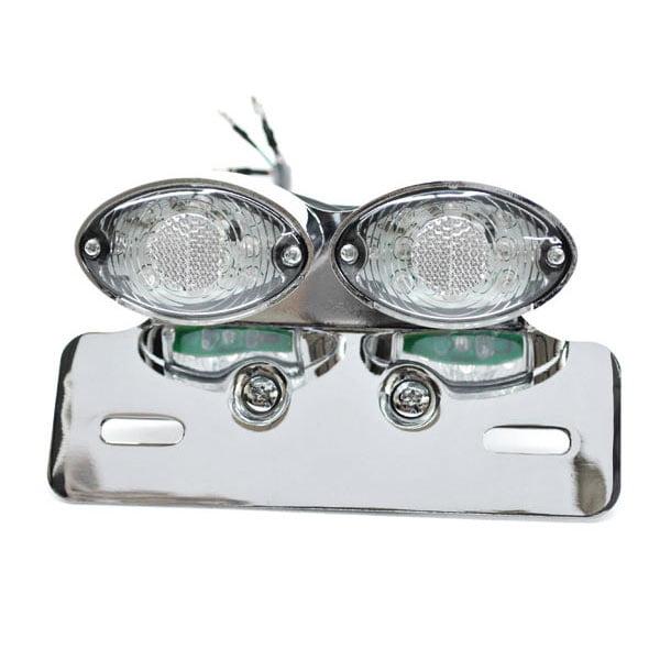 Krator Custom LED License Plate Taillight Turn Signals For Harley Davidson Dyna Glide Fat Bob Super Wide