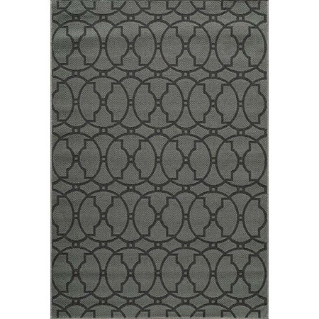 "Momeni Baja 6'7"" X 9'6"" Rug in Charcoal - image 2 of 2"