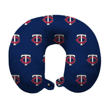Minnesota Twins Polyester-Fill Travel Pillow - Blue - No Size