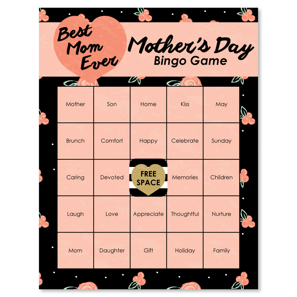 Best Mom Ever - Mother's Day Bingo Cards - 16 Count