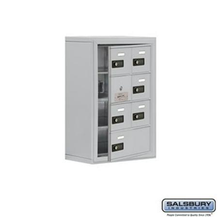 SalsburyIndustries 19148-07ASC Cell Phone Storage Locker With Front Access Panel - 4 Door High Unit, Aluminum