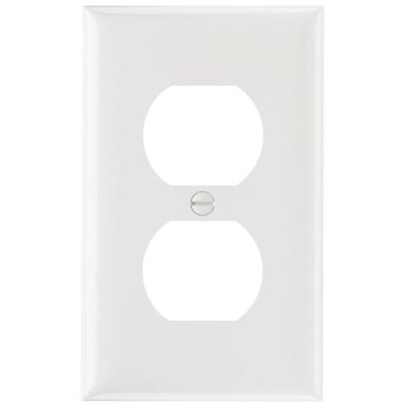 Smooth Wall Plate Single Gang Duplex Easy Install, White Pass and Seymour