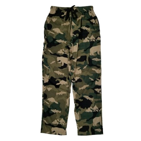 Mens Camo Wildlife Microfleece Sleep Pants Lounge Pants Pajama Bottoms