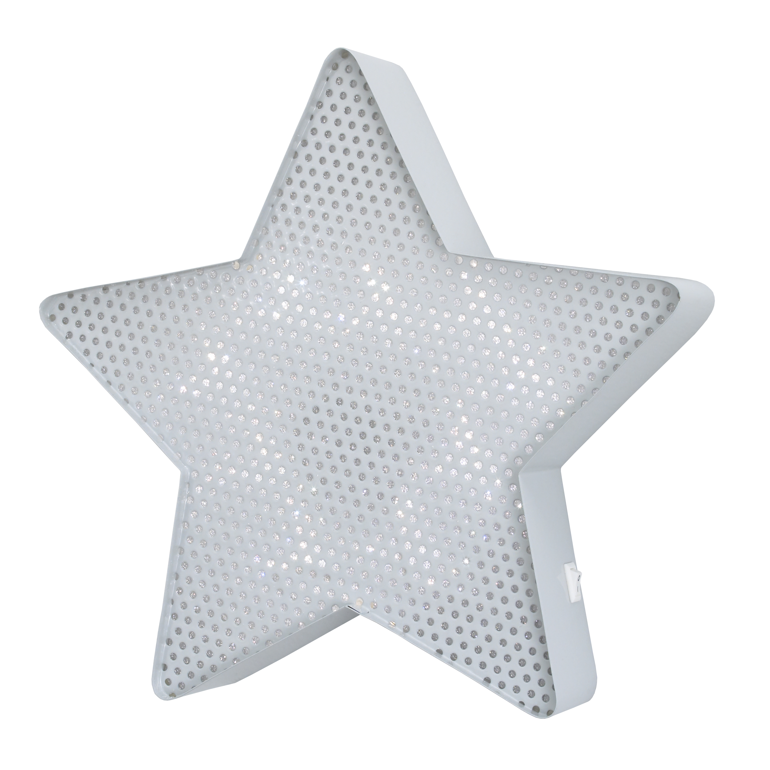 NoJo Lighted Wall Décor Grey Star
