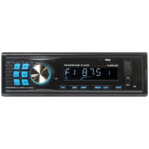 Brand New PYLE PRO PLMR22BT Single-DIN In-Dash Mechless AM/FM Receiver with Bluetooth