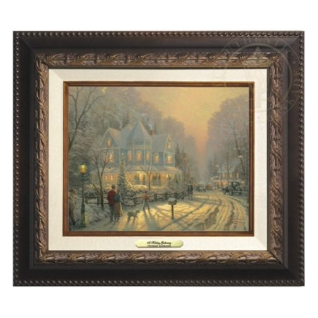 Thomas Kinkade A Holiday Gathering - Canvas Classic (Aged Bronze Frame)