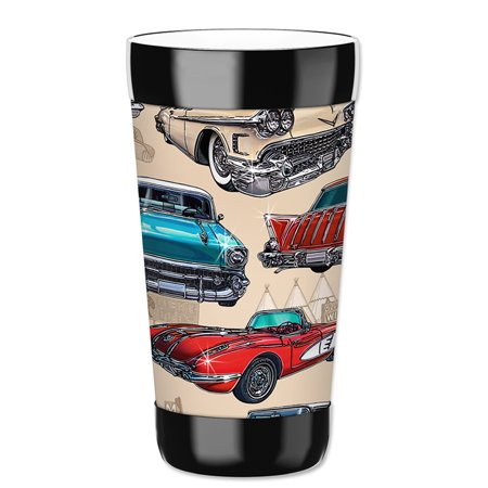 - Mugzie 16-Ounce Tumbler Drink Cup with Removable Insulated Wetsuit Cover - 50's Hot Rods