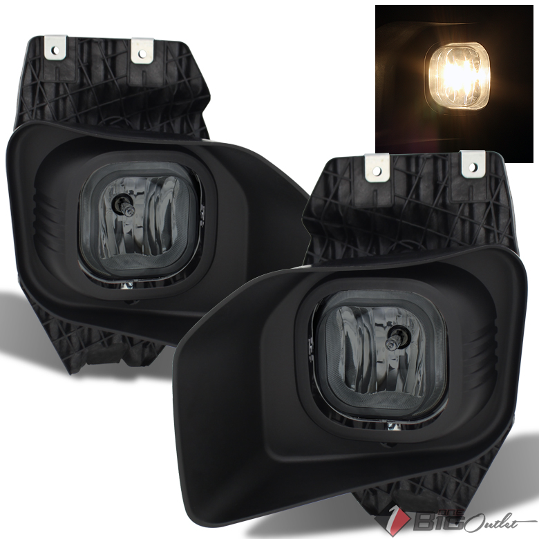 2011-2016 F-Series Superduty XLT Smoked Fog Light w/Switch Completed Set L+R 2012 2013 2014 Pair Left+Right