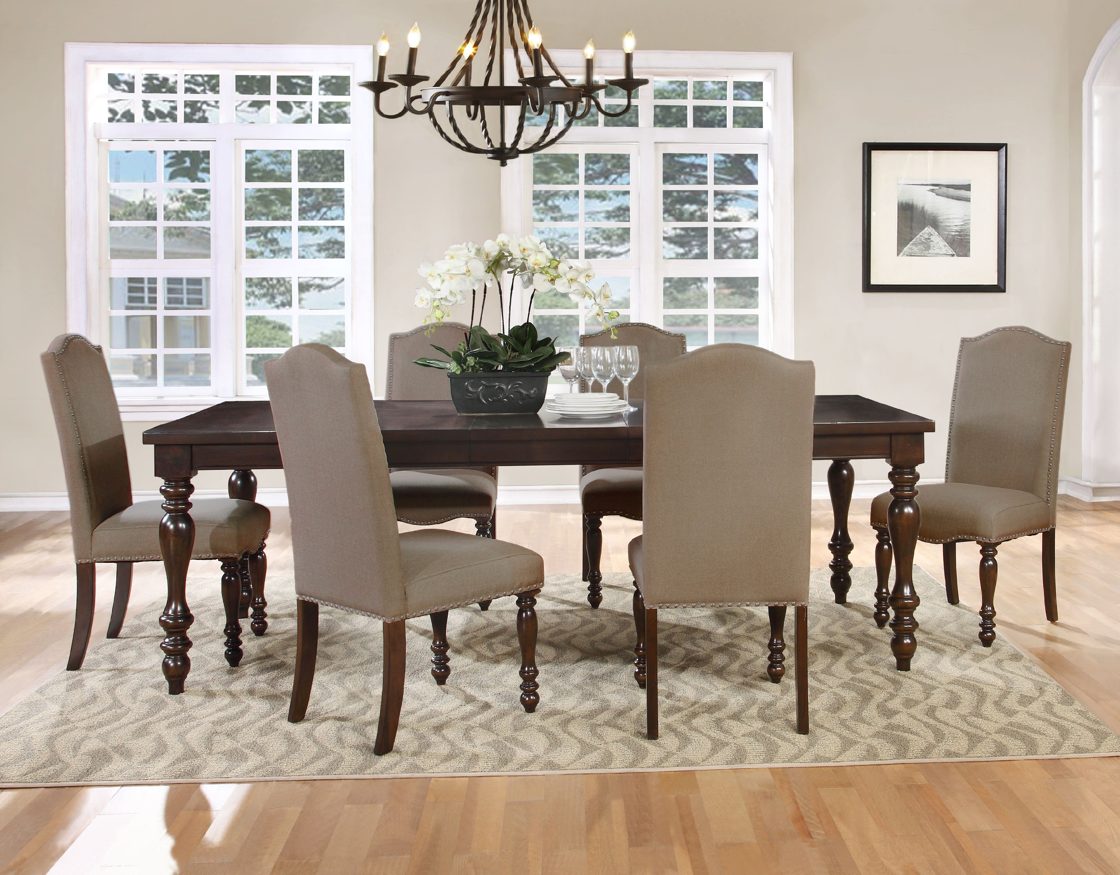 Best Master Furniture 5 Pcs Mc Gregor Dining Room Set with Table Extension by Best Master Furniture