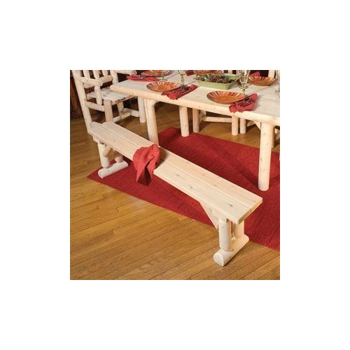 Rustic Natural Cedar 030020D Dining Table Bench