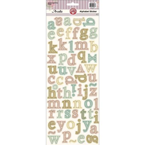 Arcadia Cardstock Stickers-Alphabet Multi-Colored