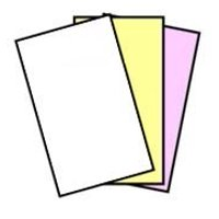 NCR Superior 8.5 x 14 Straight Collated Carbonless Paper 3 Part White, Canary, Pink 167 Sets (5910)