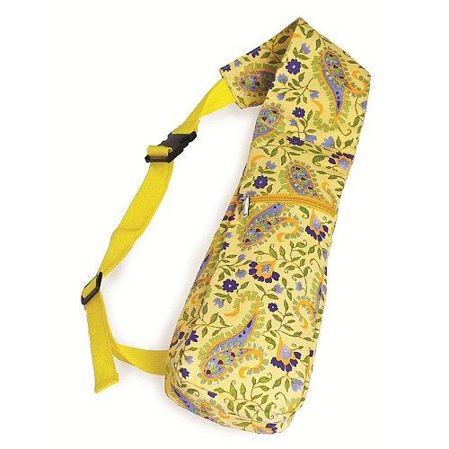 Pack of 2 Insulated Wine Bottle Backpack Tote Bags - Buttercup Yellow Paisley