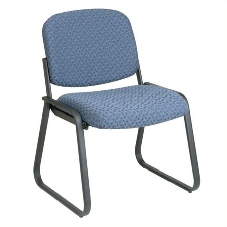 Scranton & Co Deluxe Sled Base Guest Chair in Cadet