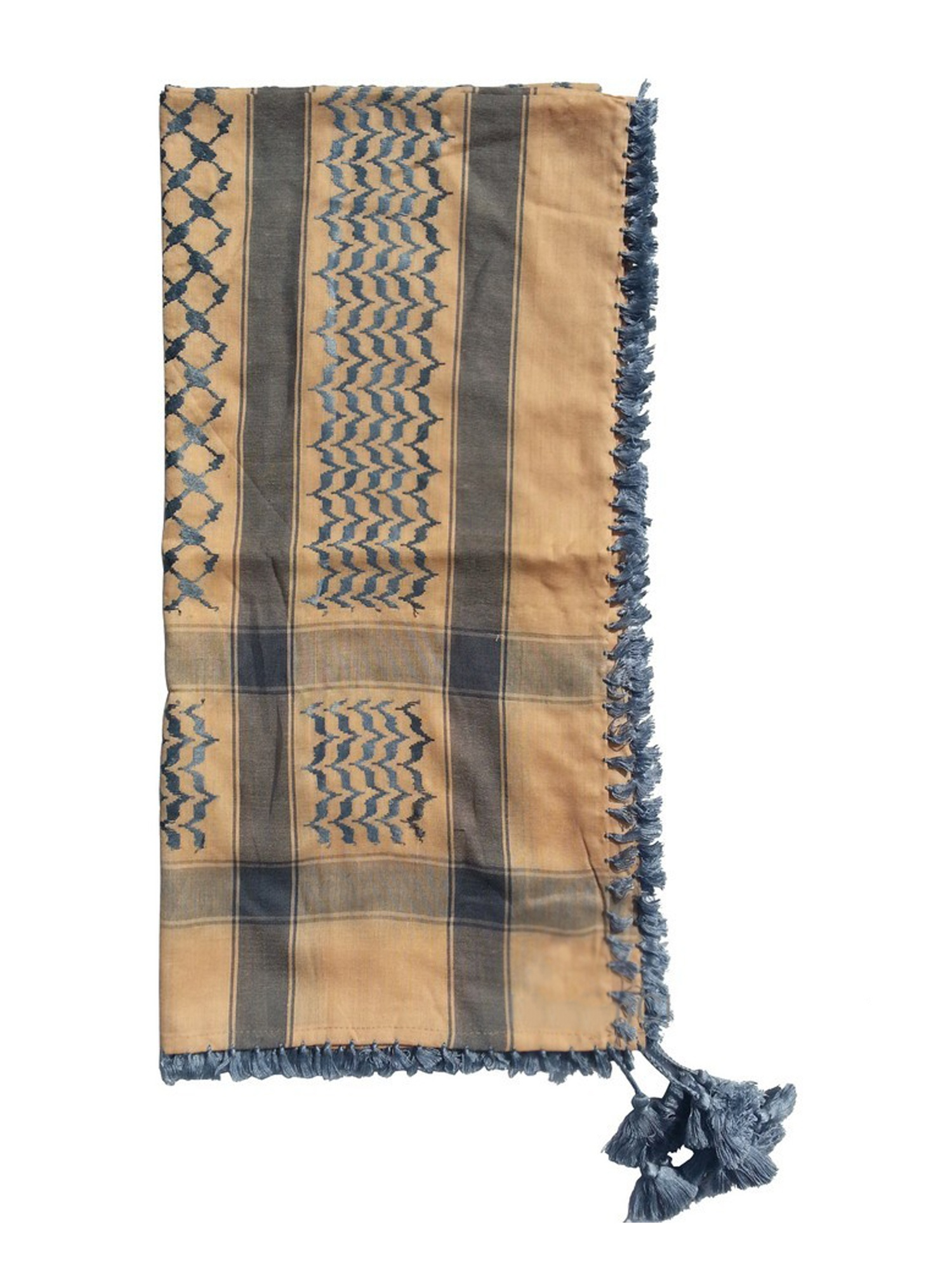 MuslimClothing® Dark Brown & White Keffiyeh Men's Muslim Arafat Scarf Shawl Turban Sorban Shawl Turban Sorban