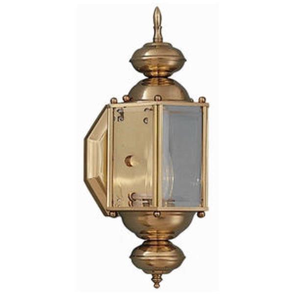 Maxim 3290CLPB Builder Brass 1-Light Outdoor Wall Mount