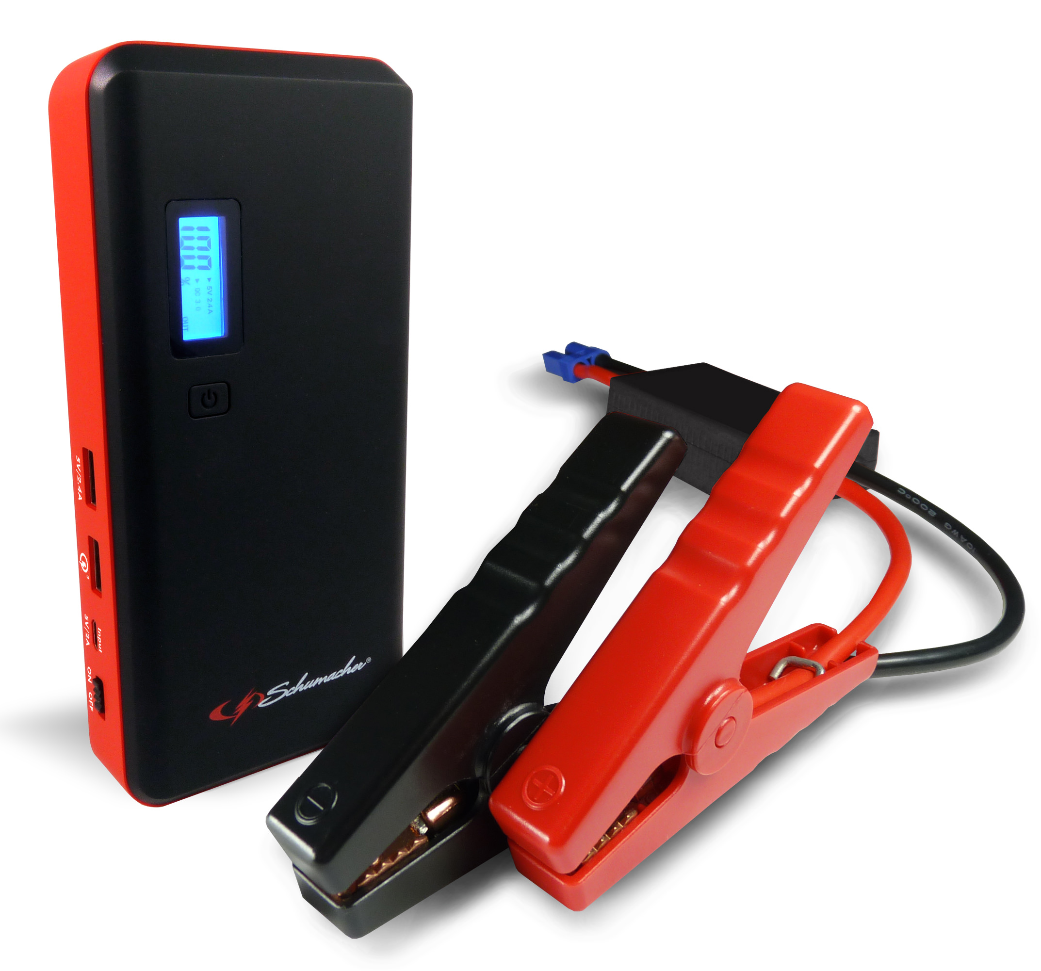 Schumacher 800-Amp Li-Ion Jump Starter with USB Ports and LCD Display by Schumacher