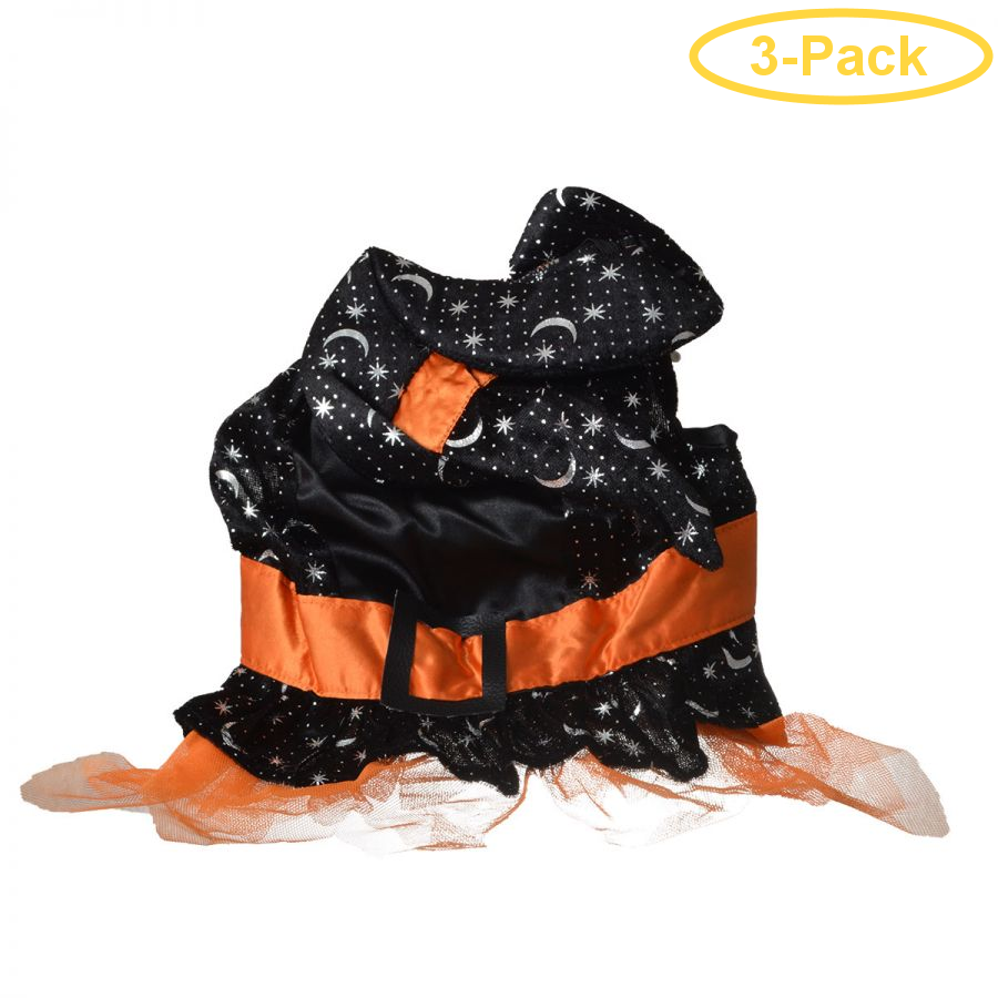 Lookin' Good Witch Dog Costume Medium - (Fits 14-19 Neck to Tail) - Pack of 3