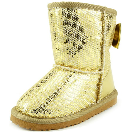 The Doll Maker Metallic Gold Sequins Snow boot - TD1641707-7
