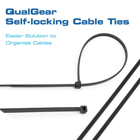 - eHotCafe CT5-B-100-P Self-Locking Cable Ties, 8