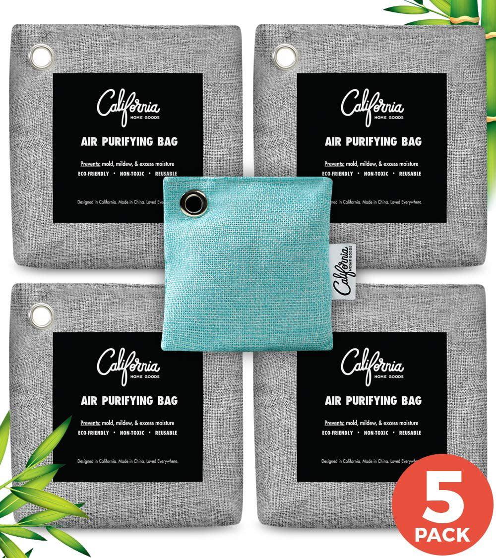 5 Bags 100/% Natural Auto Air Purifying Bamboo Charcoal Bag Green