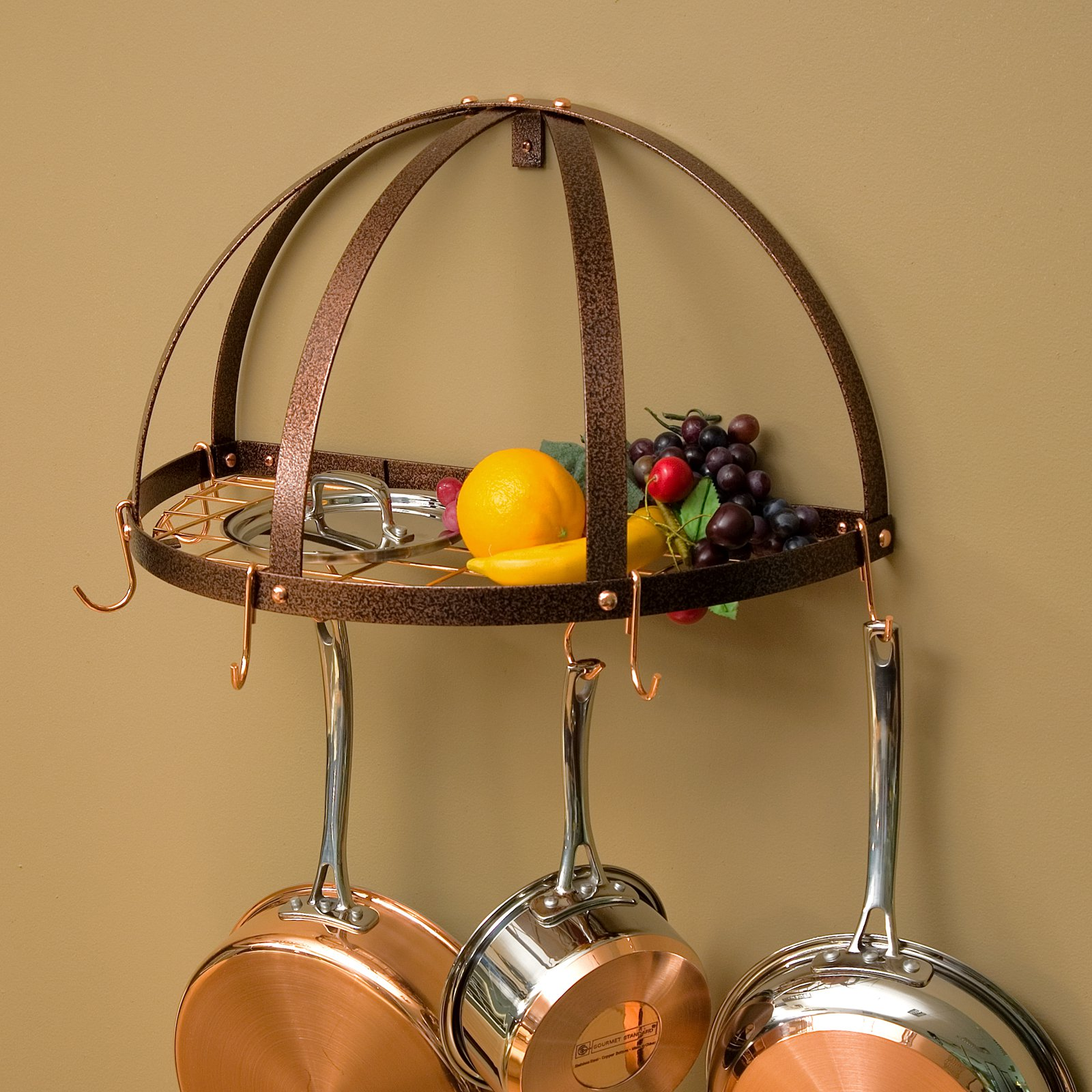The Gourmet Half Dome Pot Rack with Grid