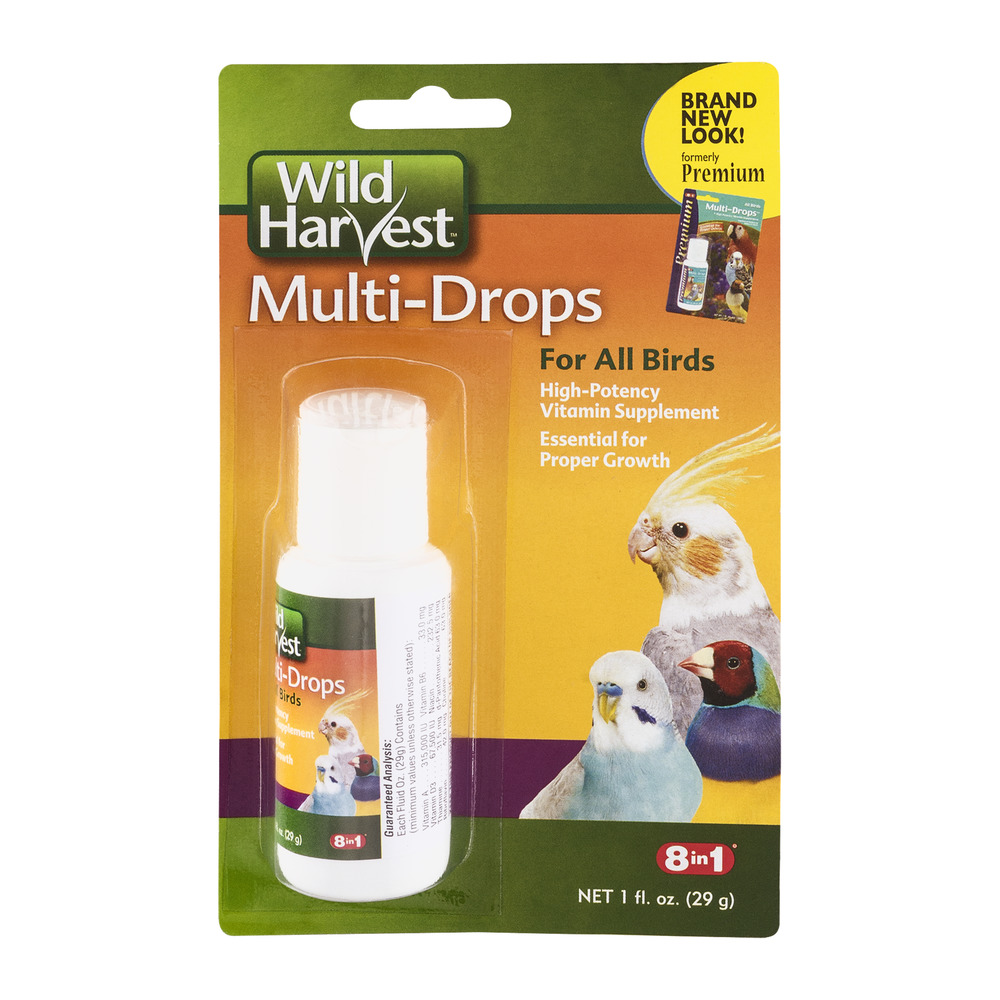 Wild Harvest Multi-Drops For All Birds, 1.0 FL OZ