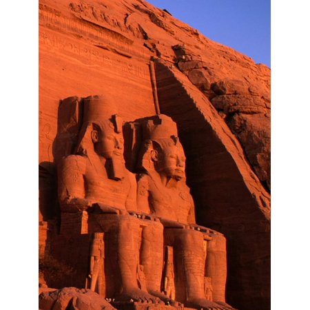 Statues of Ramesses at the Great Temple of Abu Simbel, Abu Simbel, Egypt Print Wall Art By Anders -