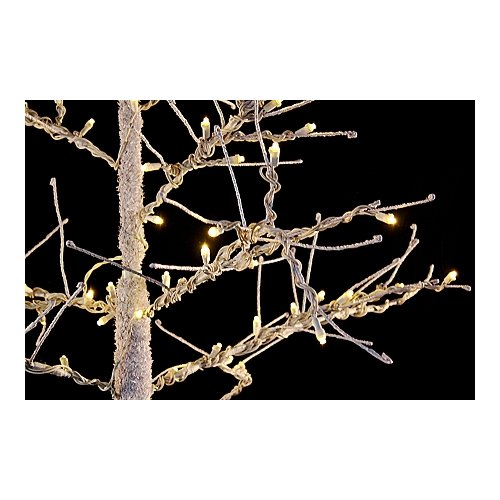 Queens of Christmas WL-DTR-45-BR-LWW LED 4.5-ft. Brown Tree with Warm White Lights