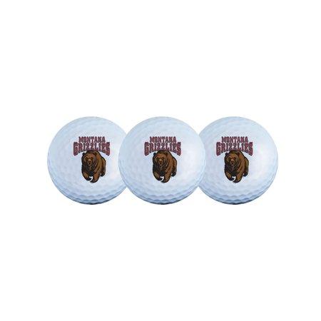 Team Effort Montana Grizzlies Golf Balls, 3 (Montana Grizzlies Satin)