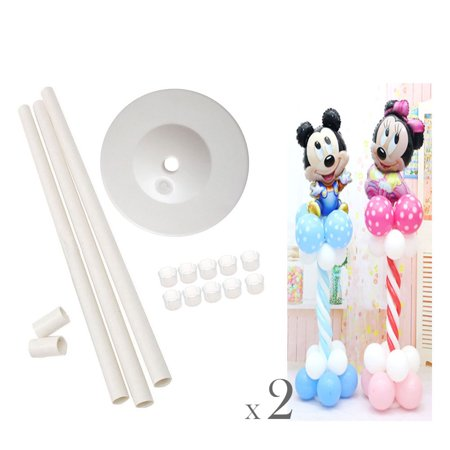 2 Sets Balloon Column Stage Stand Kits by The Elixir Party 50 Inch Height and 2 Lbs Water Fillable Base with 10 Pcs Balloon Holder Clips, Festival Party - Balloon With Name On It