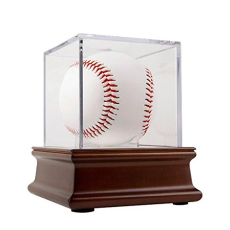 Ballqube Grandstand Baseball Holder (BallQube Grandstand Baseball Display on a Wood Base, The All Star way to display your autographed baseball is with BallQube's Grandstand.., By THE ORIGINAL BALLQUBE )