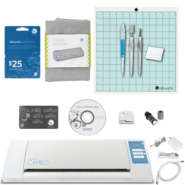 Silhouette Cameo Digital Craft Cutter 4 Tools Gray Dust Cover $25 Download