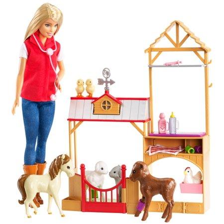 Barbie Sweet Orchard Farm Doll & Vet Playset, Blonde