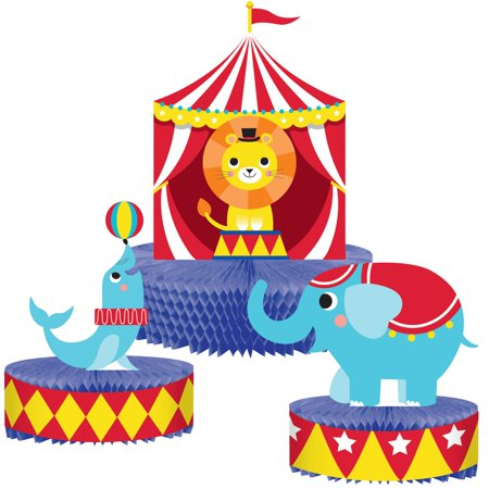 Set of 6 Brightly Colored Circus Themed Decorative Centerpiece Standups - 13