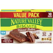 Nature Valley Biscuits, Chocolate Peanut Butter, 10 Ct Value Pack, 13.5 Oz