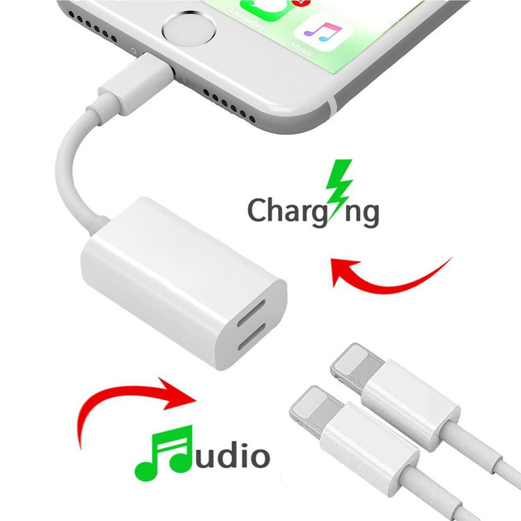 iPhone 7 Adapter , Dual Lightning Headphone Audio & Charge Adapter for iPhone 7 / 7 Plus (Suport iOS 10.3 and iOS 11) by Bangde