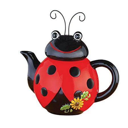 Loveable Ladybug Ceramic Kitchen Teapot
