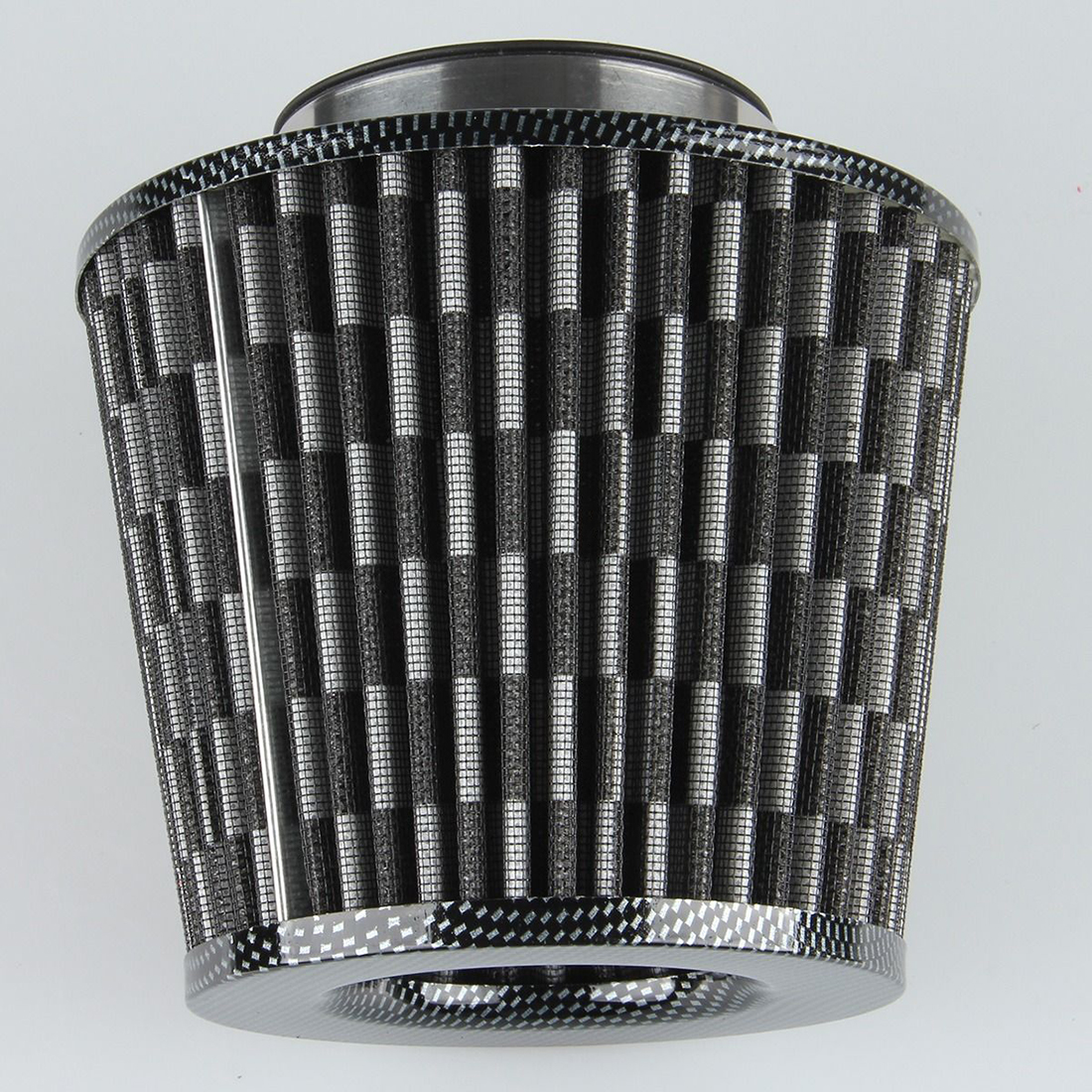 "Unique Bargains Vehicle Car Black White 76mm 3"" Inlet Dia Air Intake Round Filter - image 4 of 7"